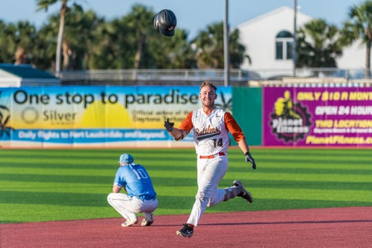 Taylor Rayburn's walk-off single gave FAMU a 9-8 win in 10 innings over Delaware State in the MEAC Baseball Championship at Jackie Robinson Ballpark in Daytona Beach.