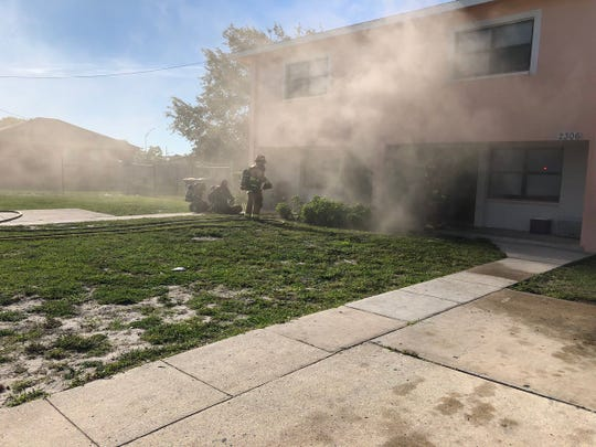 A kitchen fire damaged a Housing Authority home in Fort Pierce