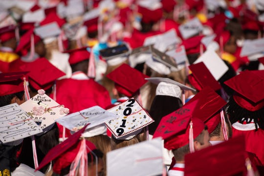 Vero Beach High School graduates received their diplomas Saturday, May 18, 2019, during the school's commencement exercise in Vero Beach. As a district, students showed improvements in English language arts and math proficiency in 2019.