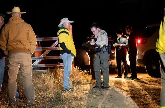 Tulare County Sheriff deputies investigate the death of a man killed in a 4-wheel accident on a private road off Highway 245 in Miramonte on Friday, May 17, 2019.