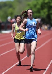 Ursuline's Sarah Flynn competes in the 3000-meter run during the Westchester County Track & Field Championships at Harrison High School in Harrison on Saturday, May 18, 2019.