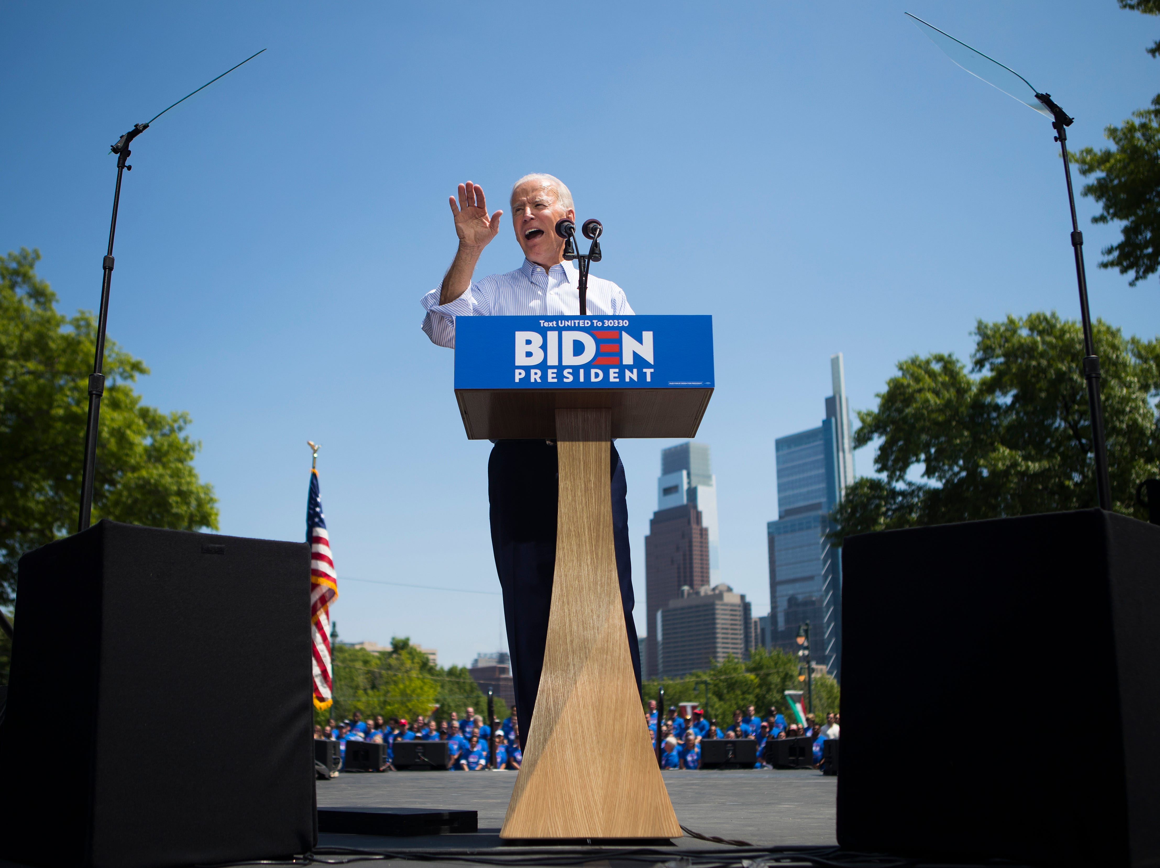 Biden at first major rally: Trump is 'divider-in-chief' who leads with 'hard heart'