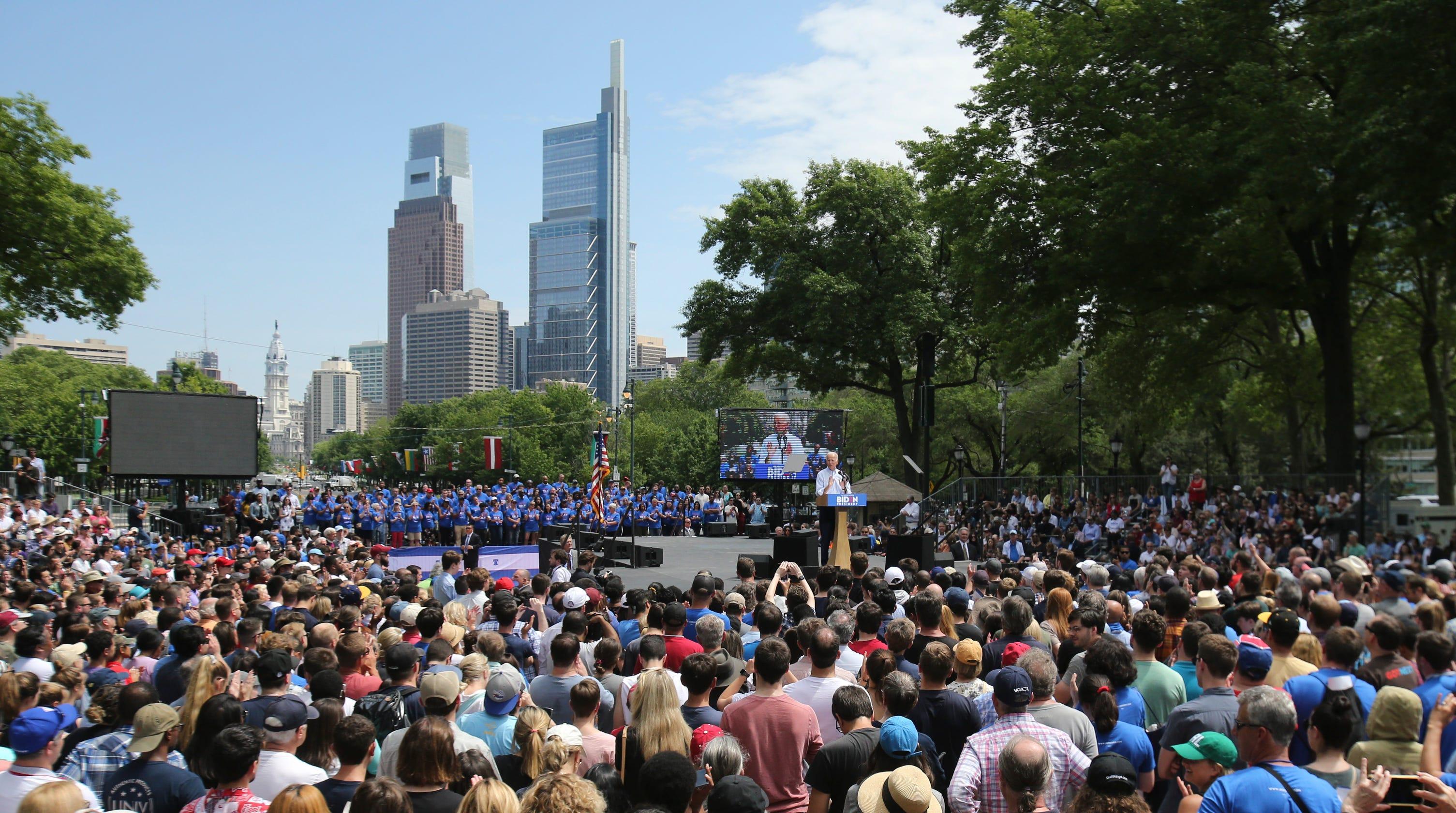 Biden In Philadelphia: 2020 Frontrunner Calls For Unity