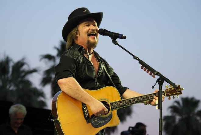 Travis Tritt performs during the 2017 Stagecoach Country Music Festival at the Empire Polo Club on April 30, 2017 in Indio, Calif.