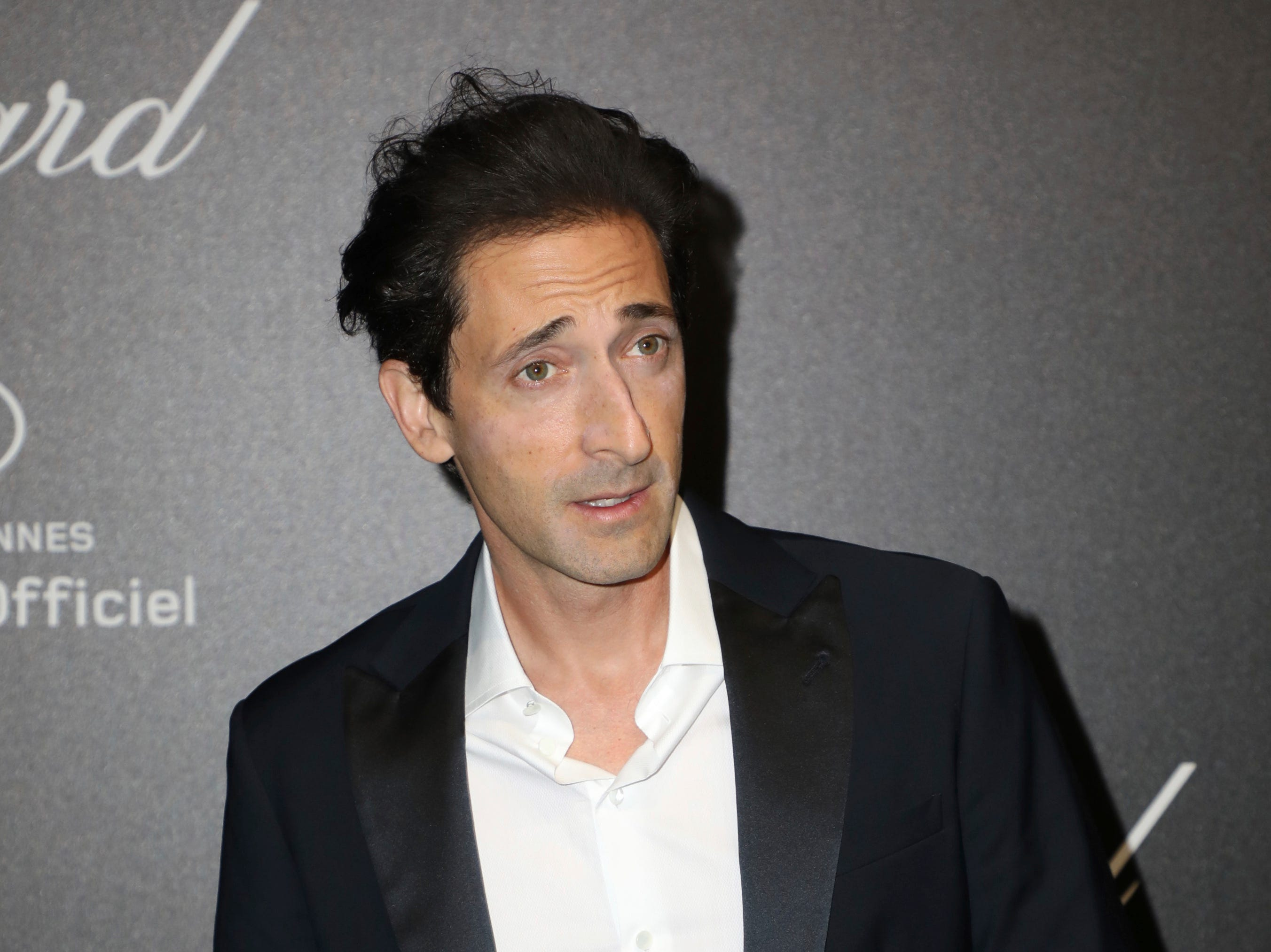 Actor Adrien Brody poses for photographers upon arrival at the Chopard Love event at the 72nd international film festival, Cannes, southern France, Friday, May 17, 2019.