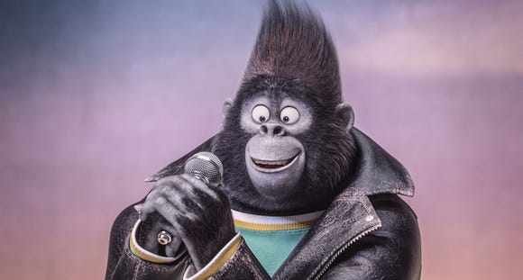 "Taron Egerton voices the Gorilla in Johnny in ""Sing,"""