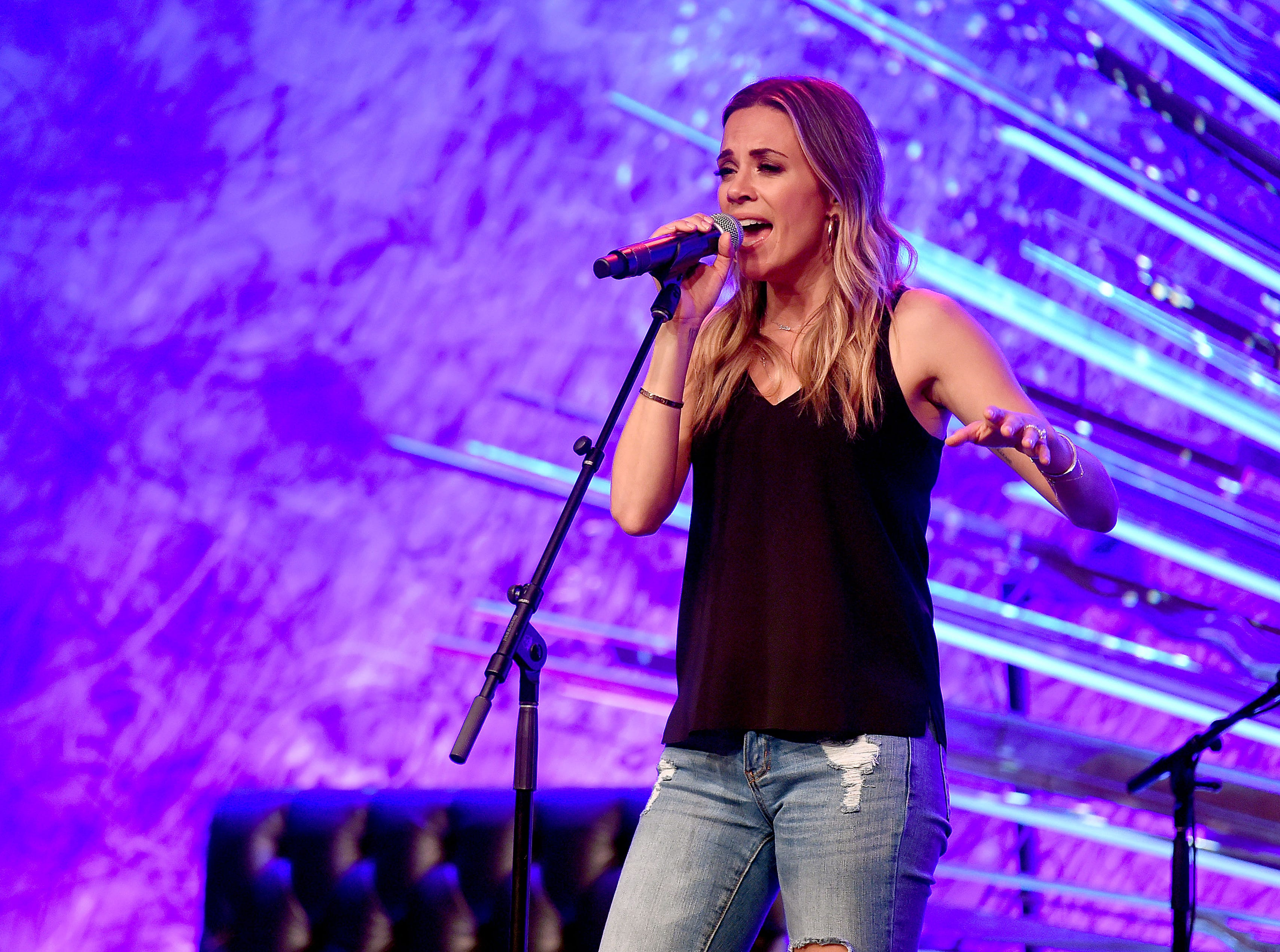 Jana Kramer performs onstage at Whine Down With Jana Kramer And Mike Caussin at Sony Hall on May 17, 2019 in New York City.
