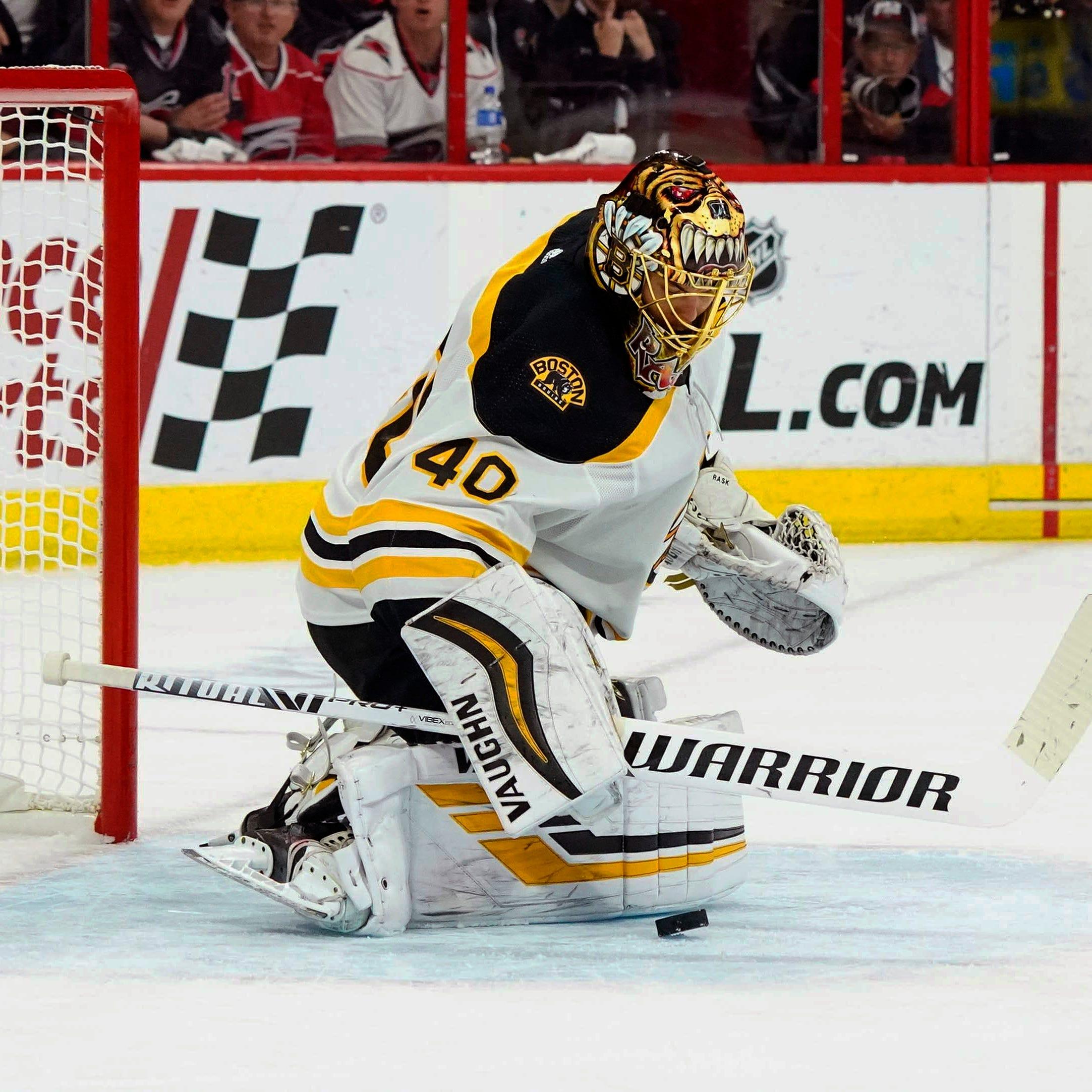 Bruins goalie Tuukka Rask had a strong Eastern Conference final against the Hurricanes.