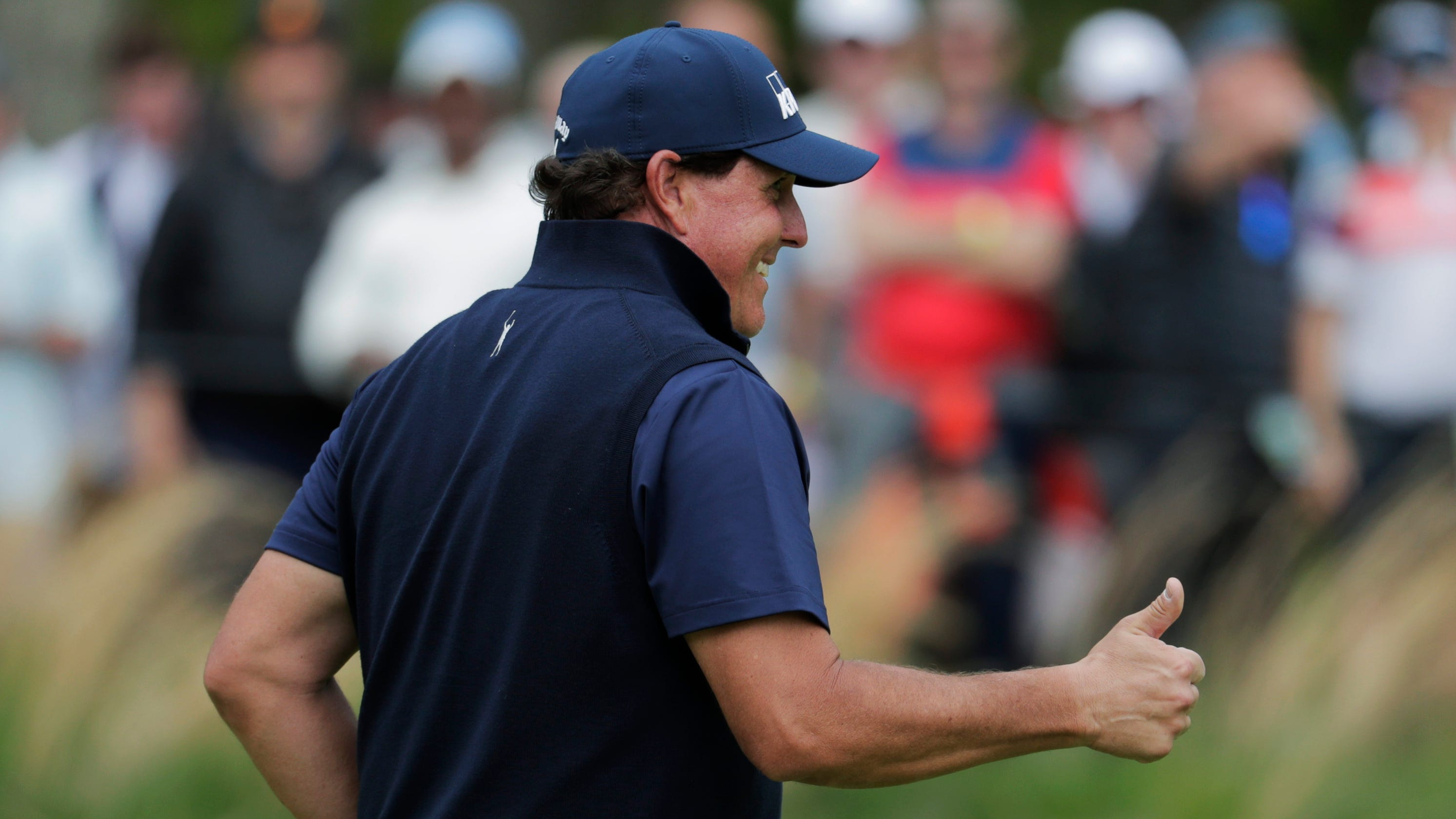Phil Mickelson posts another weird video: 'As the putts go down, the thumbs are coming up'