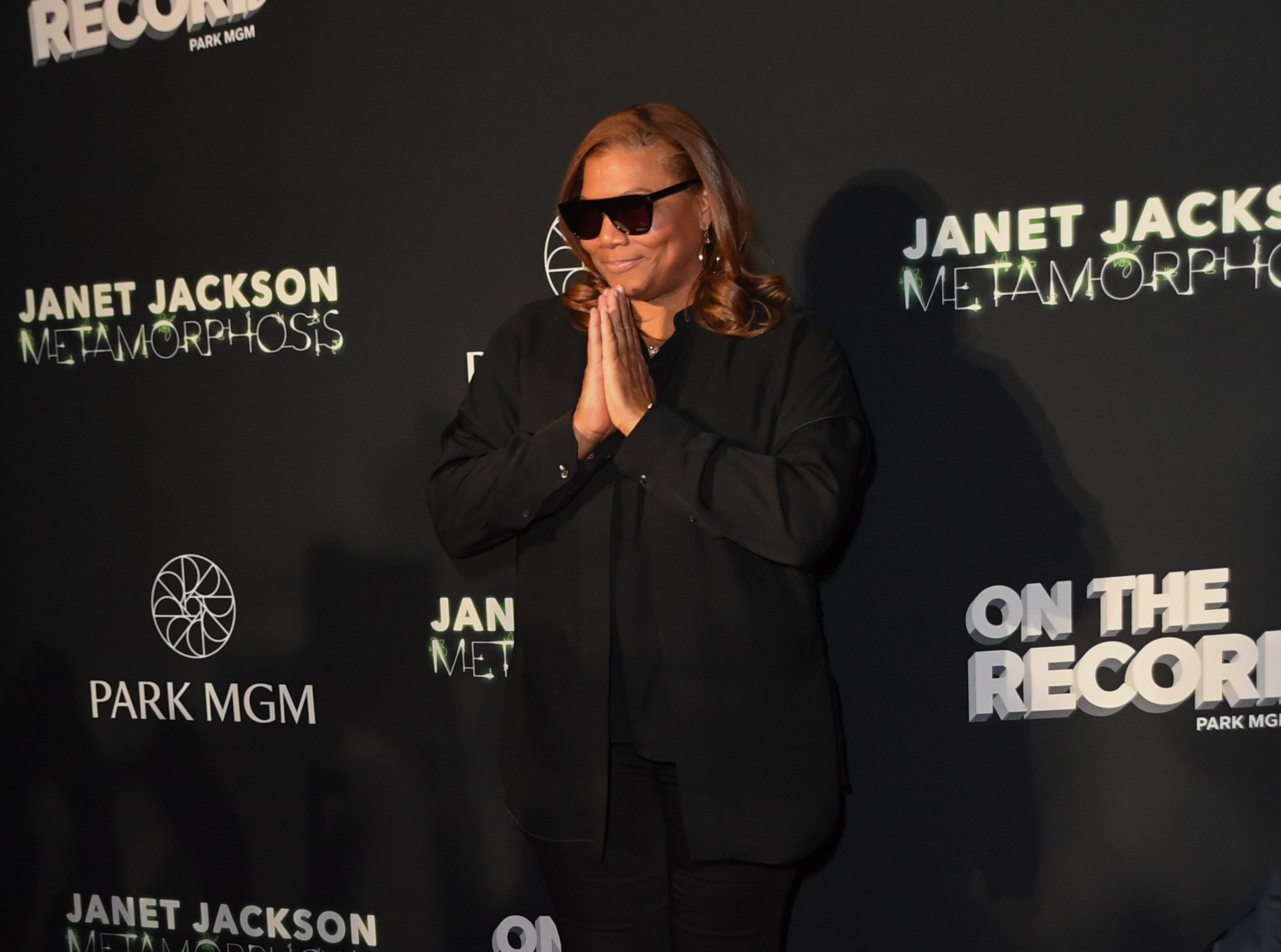 """Rapper/actress Queen Latifah attends the after party for the debut of Janet Jackson's residency """"Metamorphosis"""" at On The Record Speakeasy and Club at Park MGM on May 17, 2019 in Las Vegas."""
