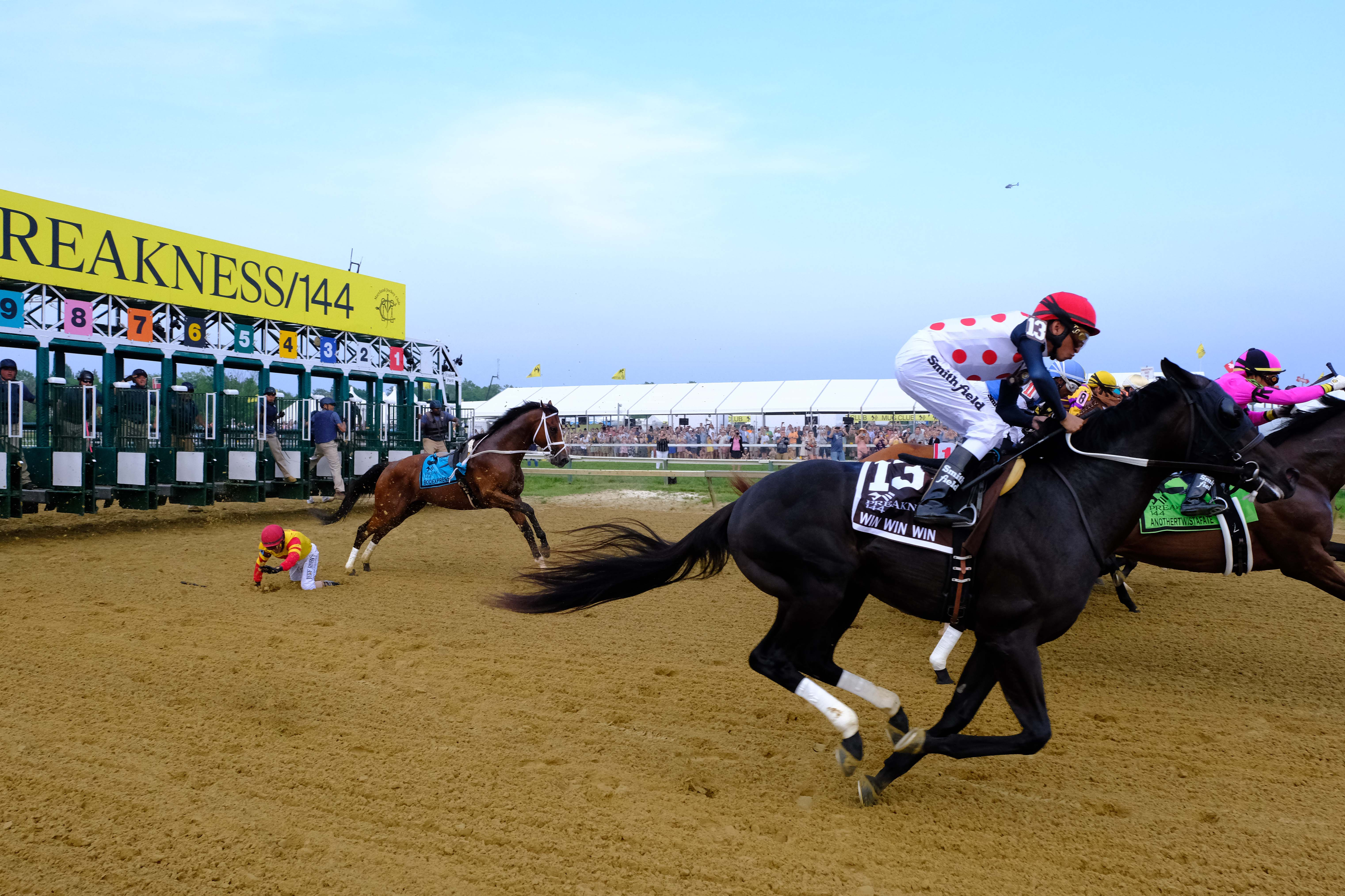 Bodexpress runs Preakness Stakes without jockey John Velazquez