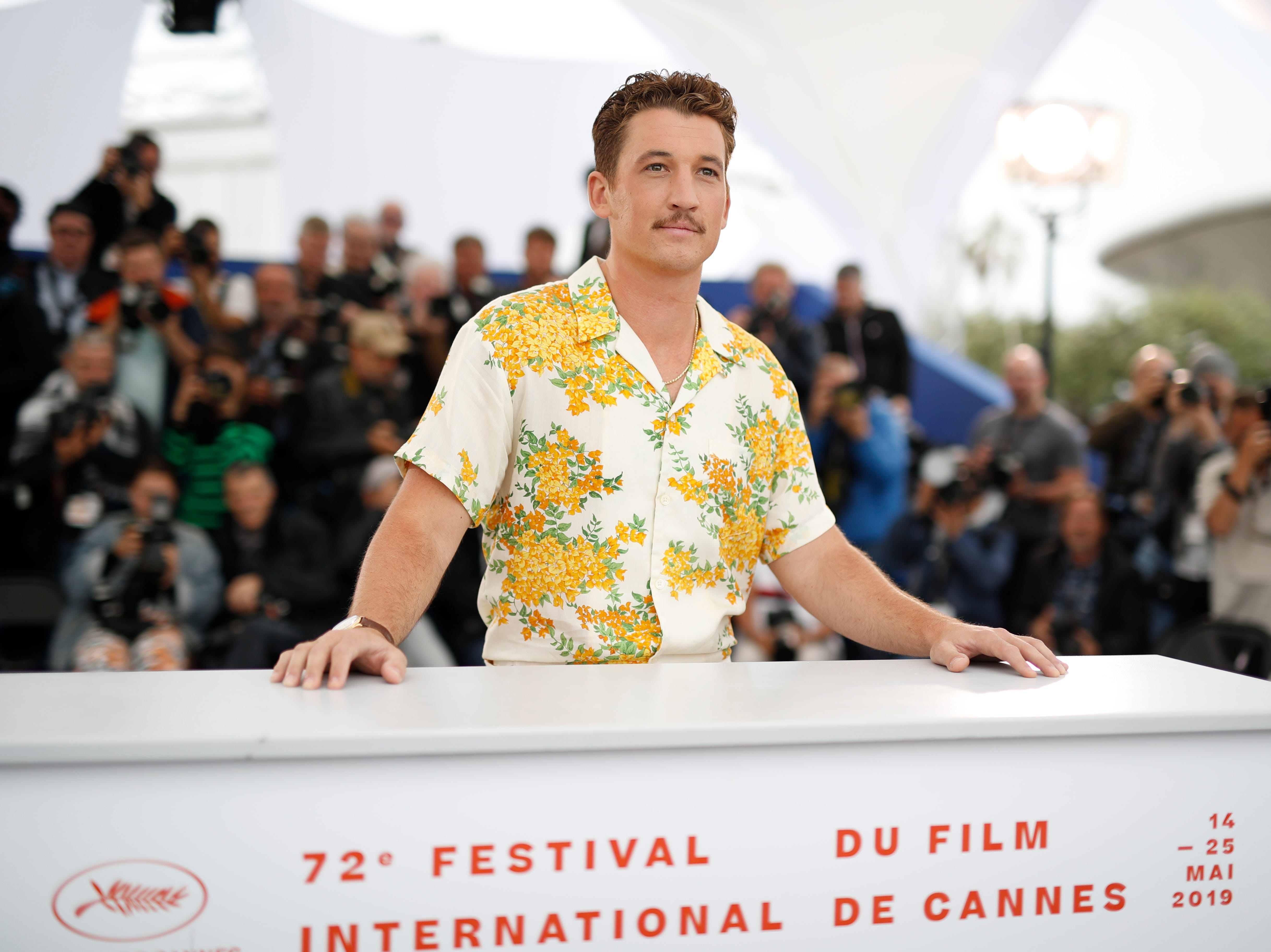 Actor Miles Teller poses during the photocall for 'Too Old to Die Young - North of Hollywood, West of Hell' at the 72nd annual Cannes Film Festival, in Cannes, France on May 18, 2019.