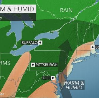 Summer temperatures bring severe thunderstorms to Southern Tier Sunday