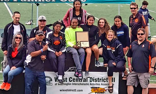 Central Kitsap's girls track and field team earned a Class 3A West Central/Southwest Bi-District title Saturday at Sunset Chev Stadium in Sumner.