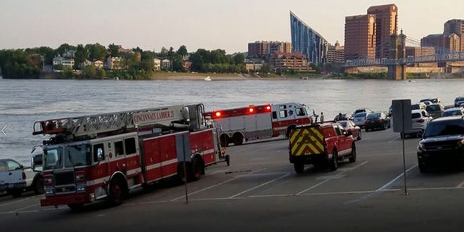 Rescuers are ending the Saturday night search for a woman who fell into the Ohio River Saturday evening.