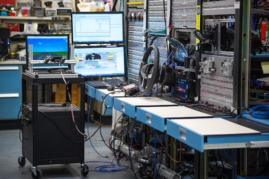 Testing in the Electronics Lab Friday, February 2, 2018, in the Alternative Energy Center at the General Motors Technical Center in Warren, Michigan.