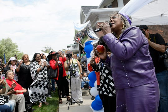 "Legendary Motown singer Martha Reeves performs ""Dancing in the Street"" during the annual Founder's Day event at the Motown Museum in Detroit on Sunday, May 19, 2019. The event included performances and activities, as well as the opening of the Dancing in the Street park, a new public space next to the museum."
