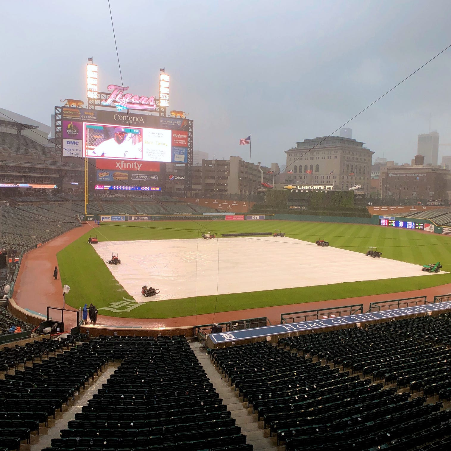 Detroit Tigers can't hold off A's, or the rain, in suspended game