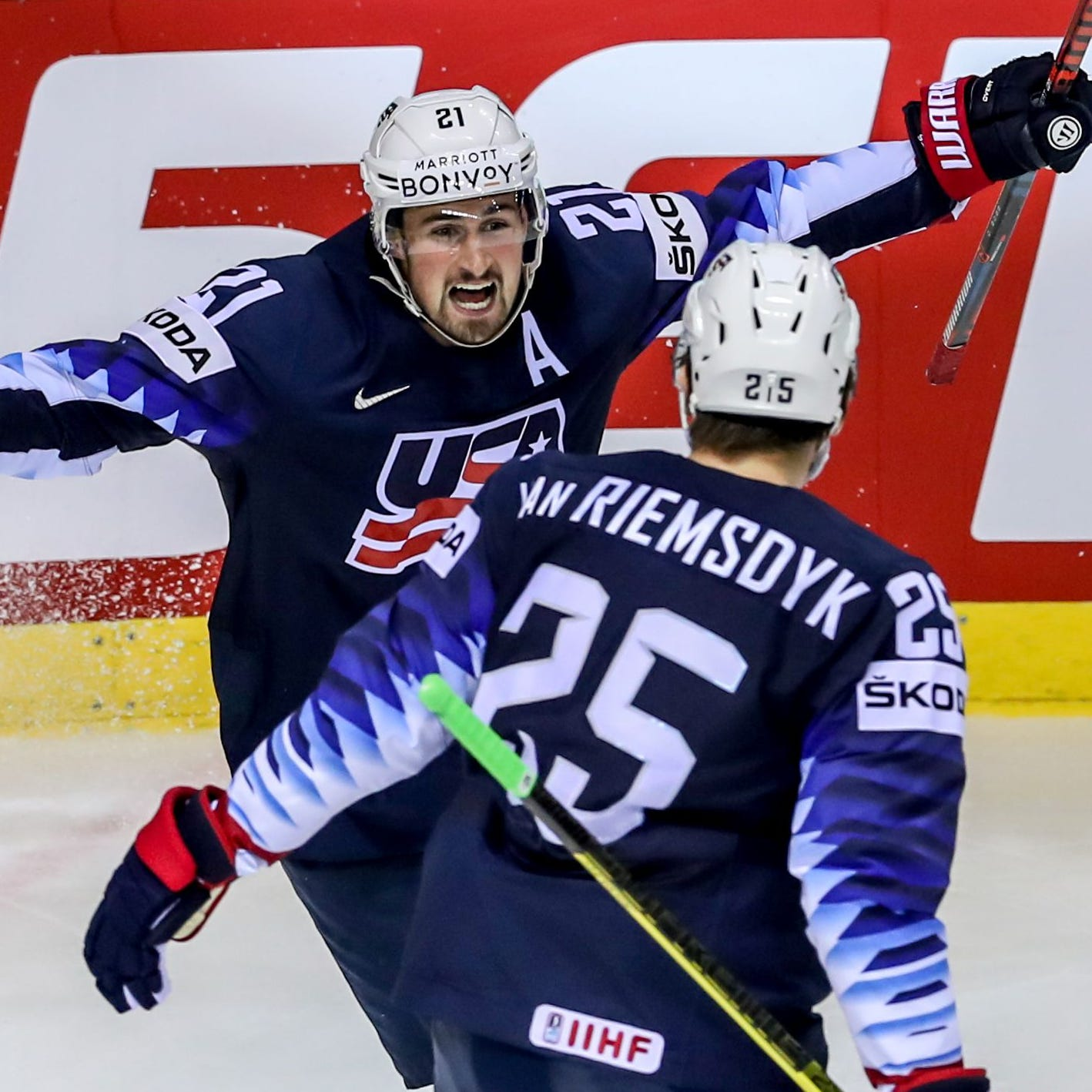 Detroit Red Wings' Dylan Larkin scores another big goal at Worlds