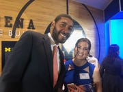 Former Michigan basketball player Jimmy King, here with fiancee Marla Govan at the ChadTough Foundation Gala, has joined Jalen Rose in supporting Juwan Howard's candidacy for Michigan basketball coach.