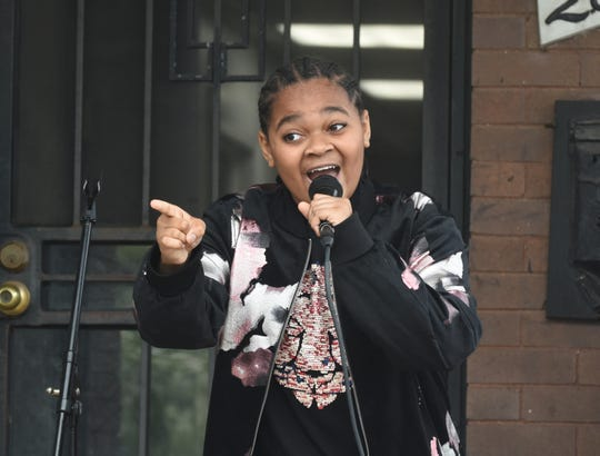King Bethel, 13, of Detroit performs as the Motown Museum holds its annual Founder's Day event in honor of Motown Museum founder Esther Gordy Edwards on Sunday.