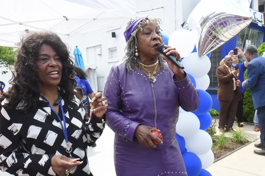 Signer Martha Reeves, right, performs during the Founder's Day event in honor of Motown Museum founder, Esther Gordy Edwards, on  May 19.