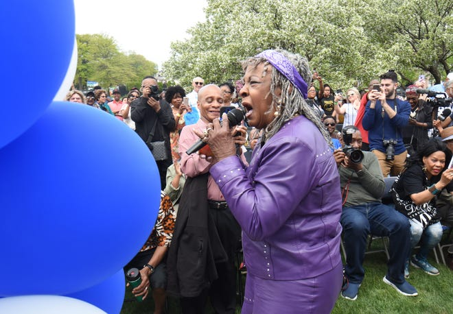Martha Reeves performs at the event in honor of Motown Museum founder Esther Gordy Edwards on Sunday.