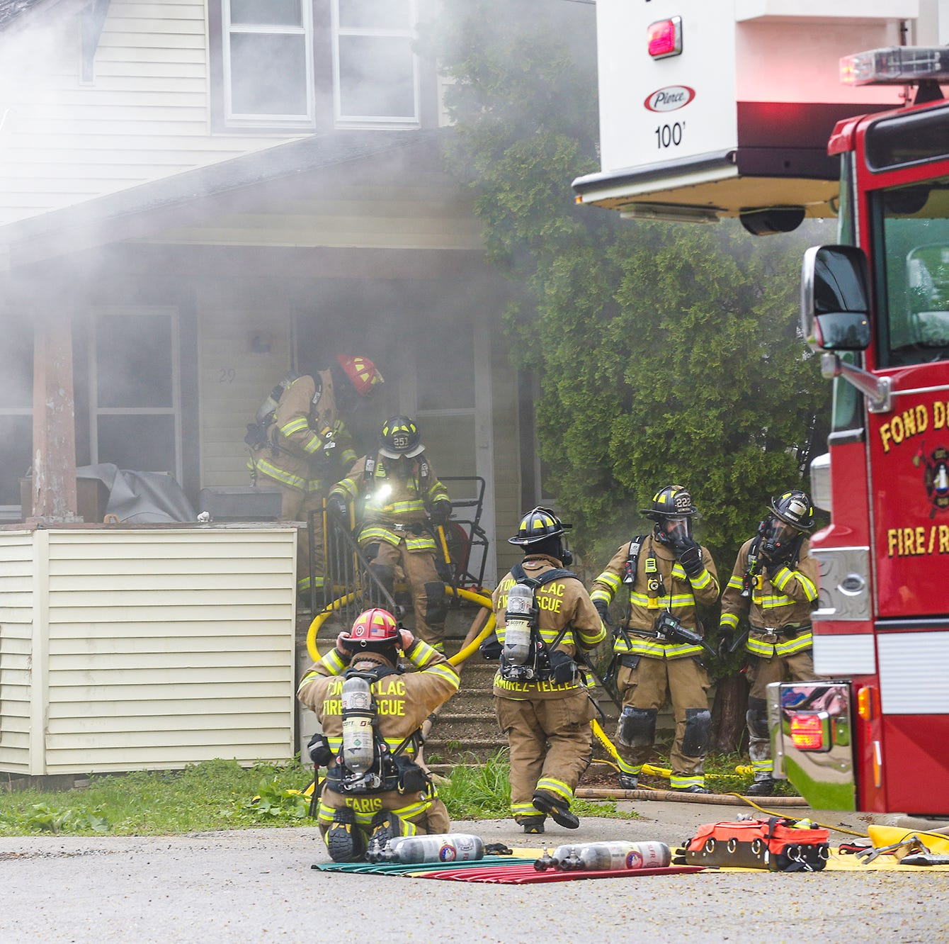 Fond du Lac house fire sends woman to hospital, causes 'substantial damage' to home