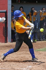 Clyde's Kendall Bailey swings at a pitch.