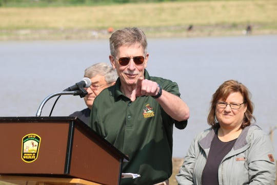 Mike Wilkerson of the Ohio Department of Natural Resources discusses Fremont's new boat ramp and fishing access point.