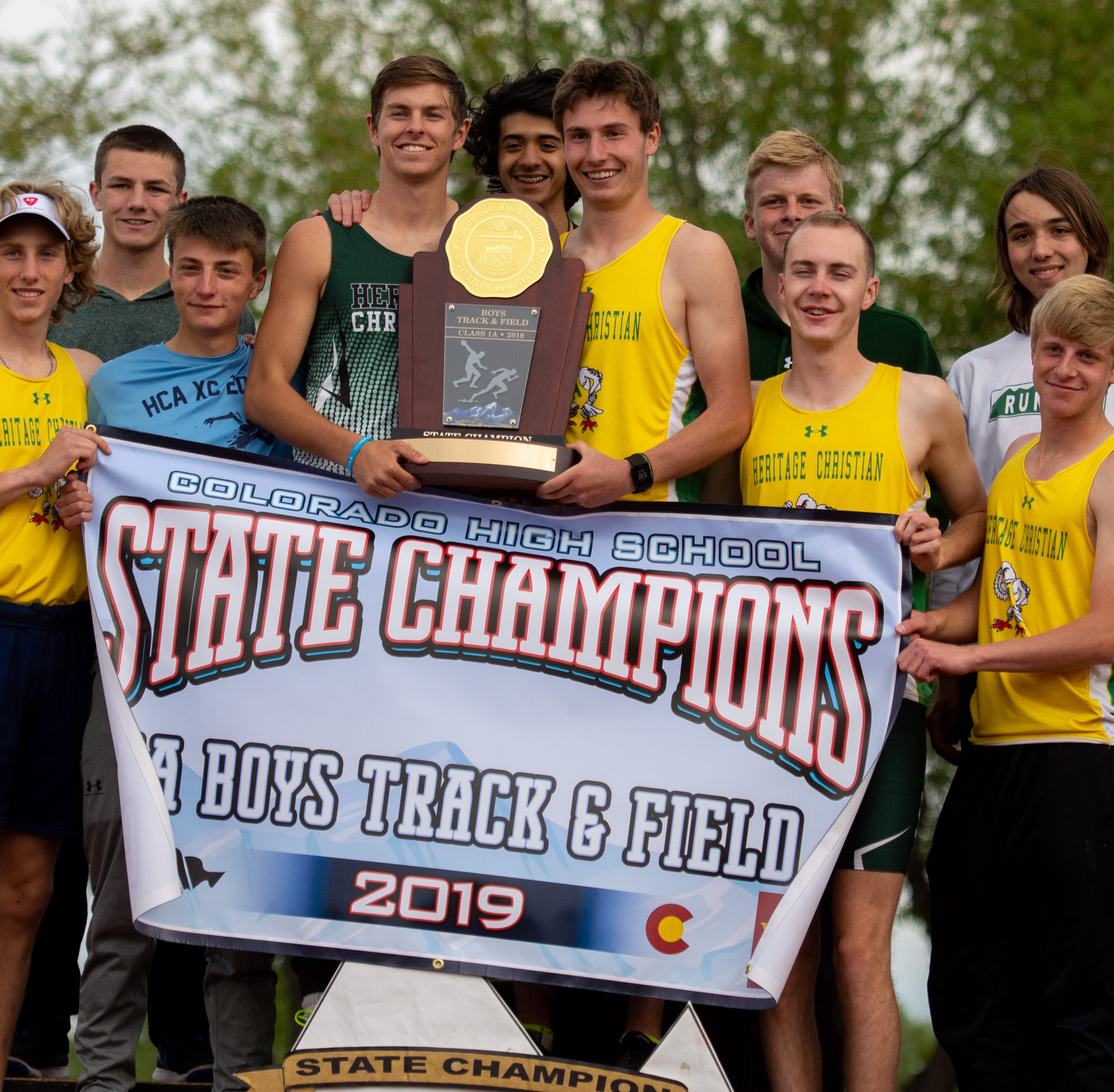 Heritage Christian boys win fourth straight state track title