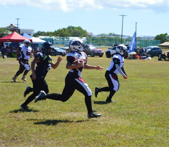 Team Legacy blanked the Steel Blazing Saints 28-0 in the Bud Light Guam Women's Tackle Football League held May 18, 2019 at the UOG Football Field.