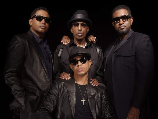 "R&B singer Melvin Edmonds, center of top row, died Saturday at age 65. He co-founded Indianapolis group After 7 with his brother, Kevon Edmonds, left, and Keith Mitchell, seated. Jason Edmonds, right, is the son of Melvin Edmonds. Jason joined the group before the release of 2016 album ""Timeless."""