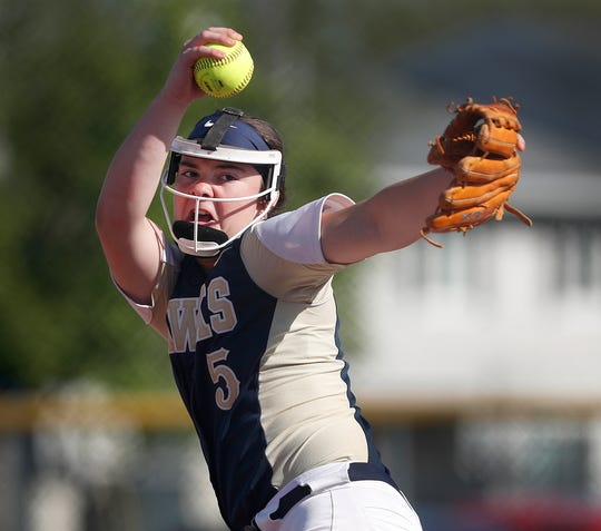 Decatur Central's Kylie Eads is part of a dominant Hawks pitching staff.