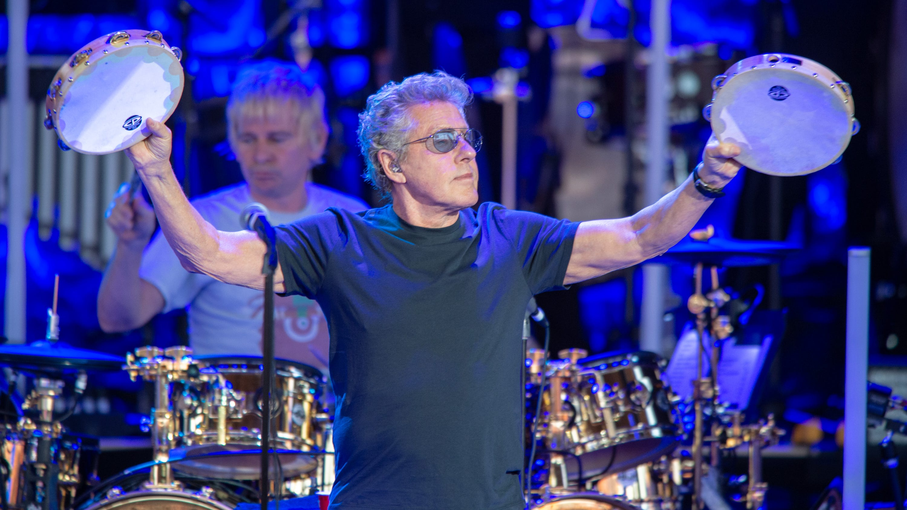 Roger Daltrey performs with The Who during their...