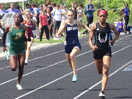 Lancaster sophomore Sophia Rockwood qualified for the regional in three events, including the 200, where she finished fourth during Saturday's Division I district meet at Hilliard Darby.