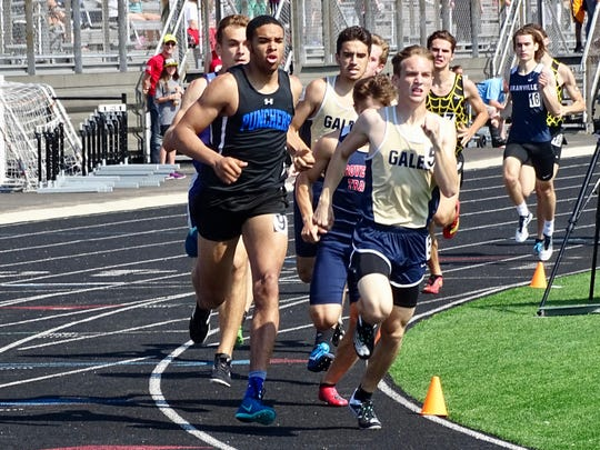 Lancaster's Justin Anderson ran a personal-best 1:56.40 and finished fourth in the 800 to qualify for the regional during Saturday's Division I district meet.