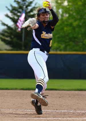 Rachel Everett pitched Hartland to victories over the top two softball teams in the state in the Ann Arbor Area High School Softball Tournament.