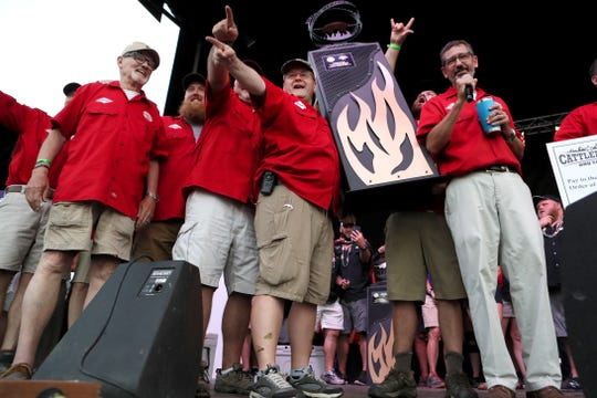 Cool Smoke is announced as the Grand Prize winners in a culmination of the Memphis in May World Championship Barbecue Cooking Contest in Tom Lee Park on Saturday, May 18, 2019.