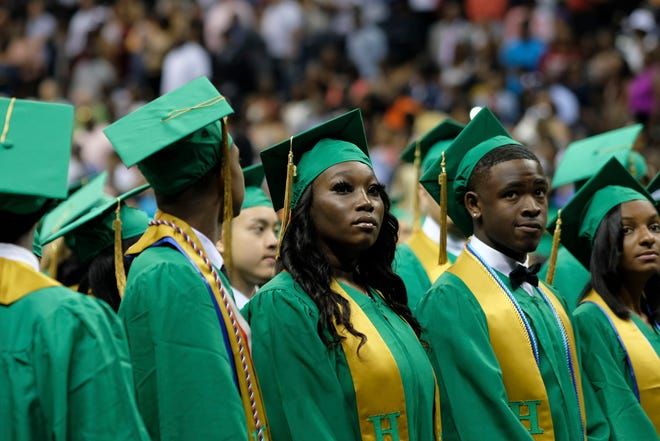 Scenes from the Central High School graduation at FedExForum on Saturday, May 18, 2019.