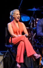 Kellie Pickler smiles during a party Hallmark threw for fans in Graceland on Saturday, May 18, 2019, in Memphis, Tenn.