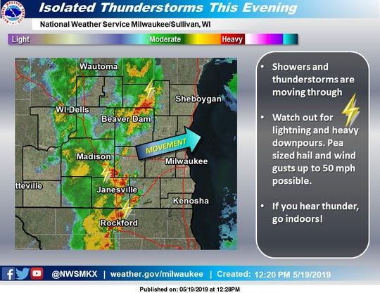 Storms are moving across the region.