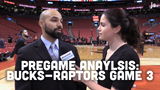 Matt Velazquez and Olivia Reiner preview the Bucks' Game 3 matchup against the Toronto Raptors of the Eastern Conference Finals.