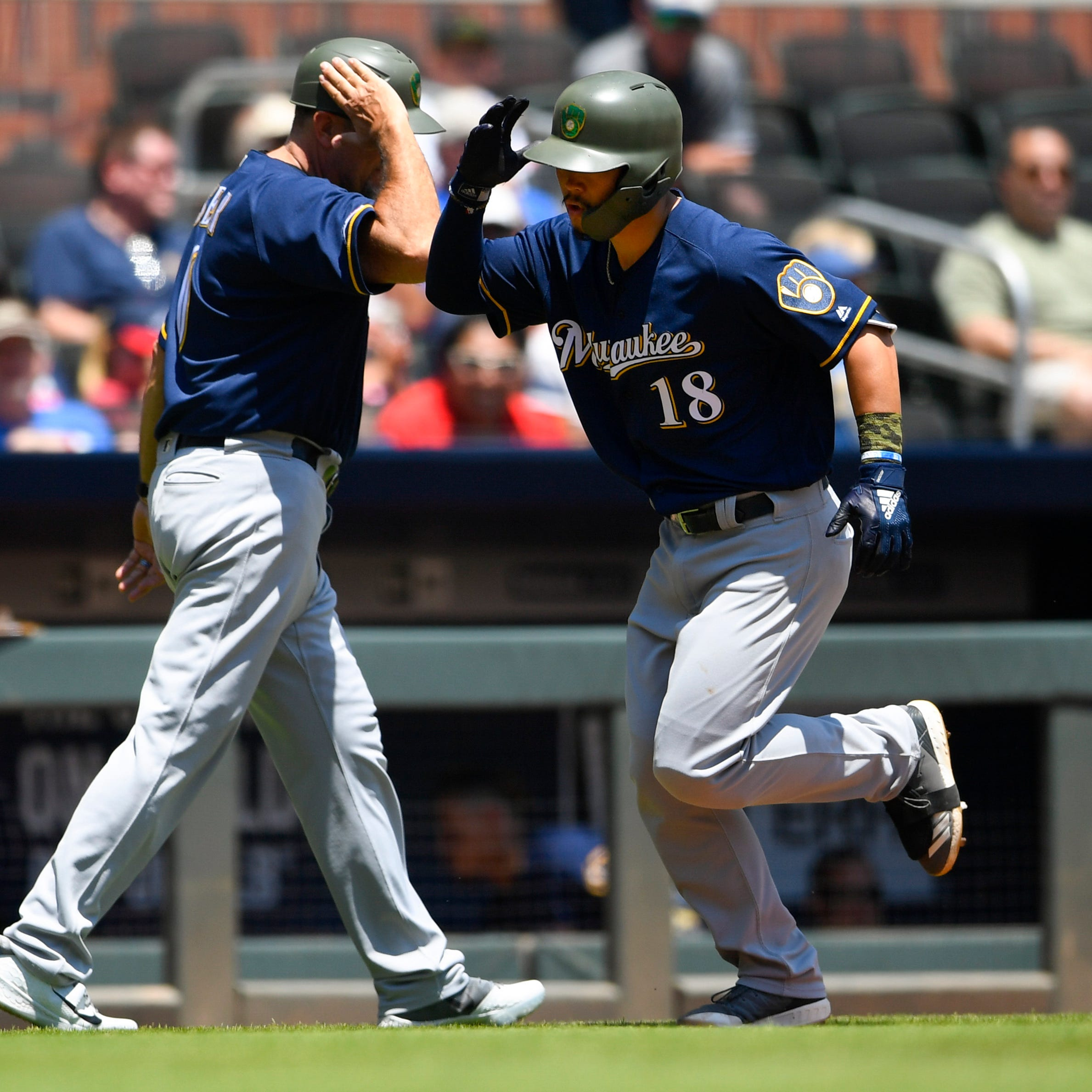 Brewers rookie Keston Hiura goes deep for the first time to cap a big trip of firsts