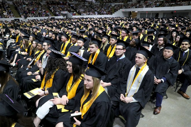 UWM's Spring 2019 graduates attended a physical commencement event. UWM's 2020 commencement will be digital.