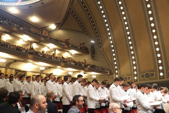The Detroit Catholic Central class of 2019 graduates in Ann Arbor's Hill Auditorium on May 19. The class received a bit more than $10.7 million dollars in scholarship awards.