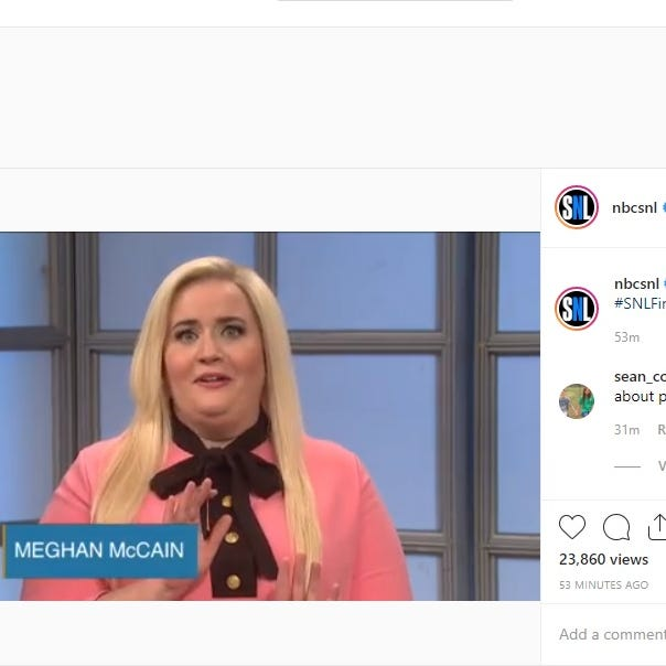 'Meghan McCain' is thin-skinned in 'Saturday Night Live' season-finale parody