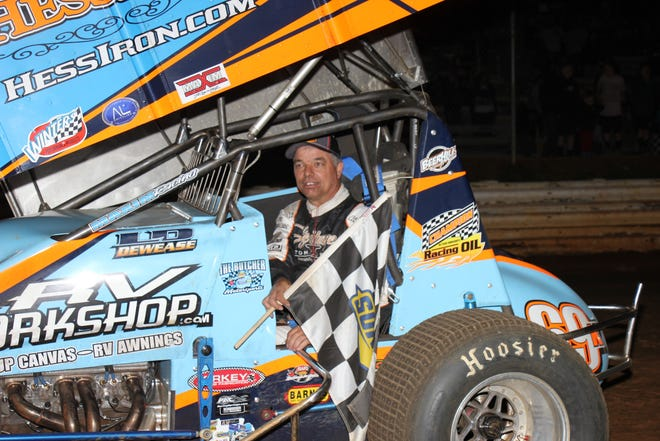 Lance Dewease, shown here in a file photo, is aiming for his fourth Pennsylvania Sprint Car Speedweek championship.