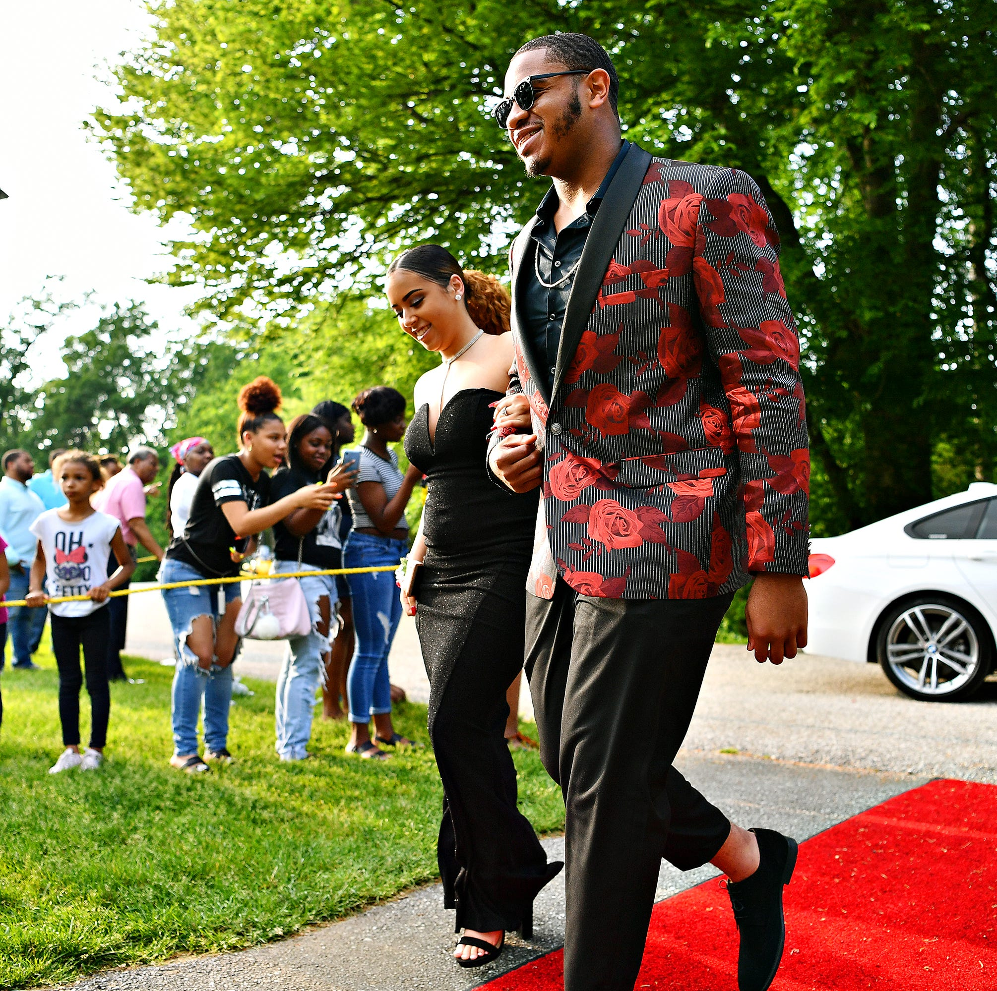 Students and their guests arrive for the William Penn Senior High School Prom at Box Hill Mansion in Spring Garden Township, Saturday, May 18, 2019. Dawn J. Sagert photo