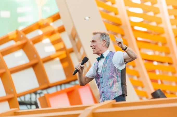 Bill Nye, popularly known as Bill Nye the Science Guy, makes an appearance at Day 1 of EDC 2019.